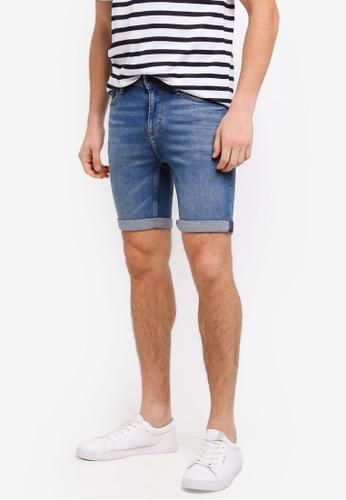 MANGO Man blue Vintage Wash Denim Bermuda Shorts 84538AA03F76C1GS_1