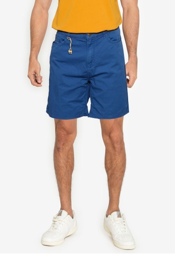 Springfield blue Washed Slim Fit 5-Pocket Bermuda Shorts 9A794AA21ED62EGS_1