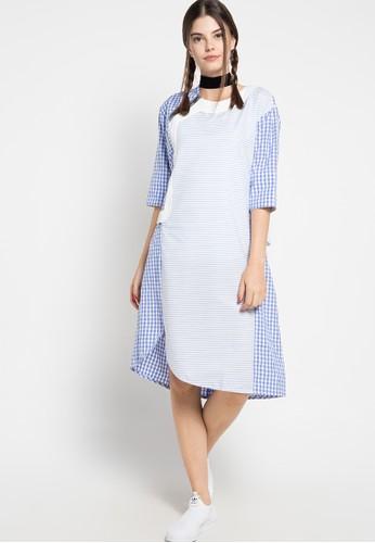 Oline Workrobe blue Simple Loose Dress OL983AA35FXKID_1