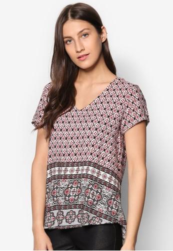 陶瓷印花寬鬆短袖T-shirt、 服飾、 上衣Geb.陶瓷印花寬鬆短袖上衣最新折價