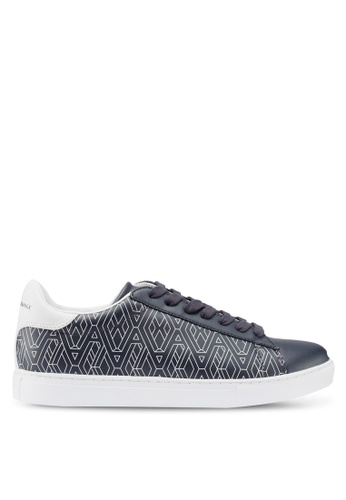 Armani Exchange navy Geometric Logo Sneakers 84AB9SHF5E6D8AGS_1