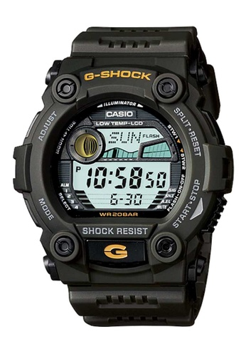 CASIO black Casio G-Shock Yellow and Black Resin Watch E2189AC676DF35GS_1