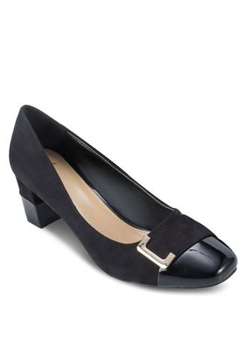 方頭扣環粗跟鞋, 女鞋, esprit台灣網頁鞋