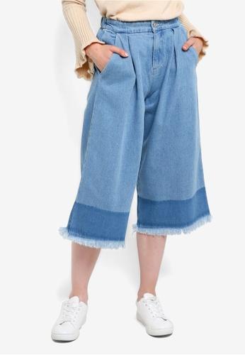 Something Borrowed blue Colorblock Culottes 7F0A8AA85327E5GS_1