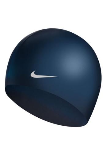 Nike navy Nike Swim Unisex Solid Silicone Cap F71C1AC591B25FGS_1