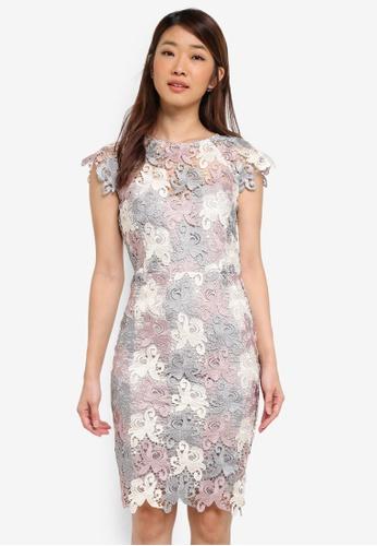 Paper Dolls multi 3 Colour Soft Contrast Crochet Lace Dress 58D46AA3B96EA2GS_1
