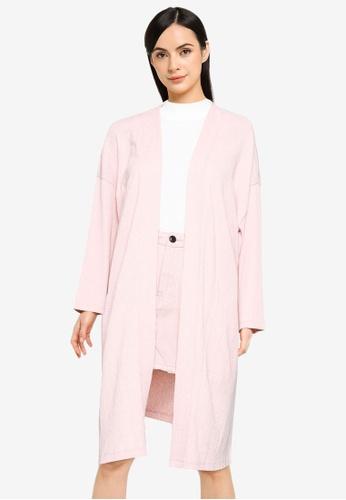 ONLY pink Diana 4/5 Long Cardigan B0CA6AA9E8F51CGS_1
