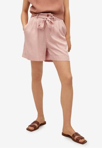 Mango pink 100% Lyocell Shorts 2C085AAB1C7878GS_1