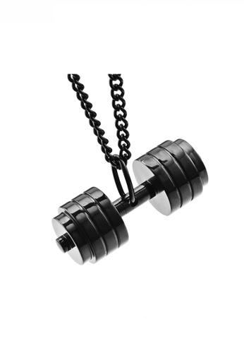 HAPPY FRIDAYS black Fitness Bodypump Pendant Necklace JW QF-DZ120 AFA7FAC76D7BDBGS_1