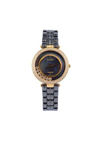 BONIA black and gold Bonia B10123-2237S - Jam Tangan Wanita - Black Gold BO710AC90ZTTID_1