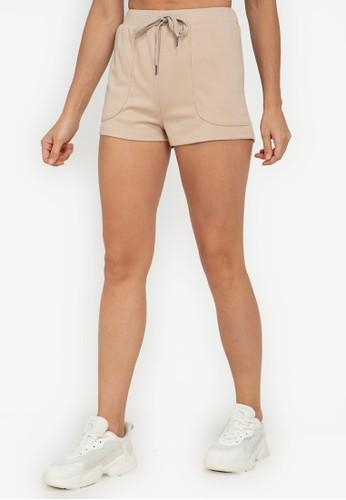 ZALORA ACTIVE beige Raw Hem Shorts E71FDAA294767EGS_1