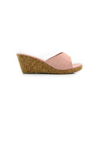 SHINE pink Slip On  Classic  Wedges SH554SH0GZFCSG_1