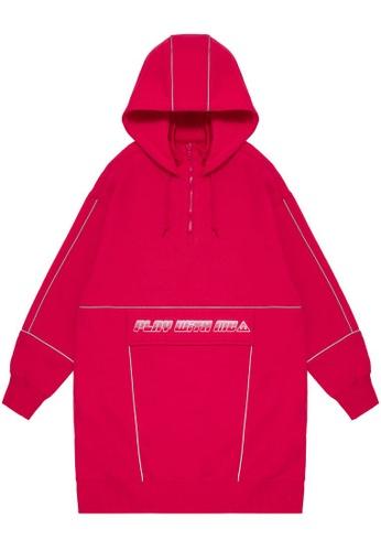 Mini cream pink Play With Me hoodie dress 43828AA1290CAAGS_1