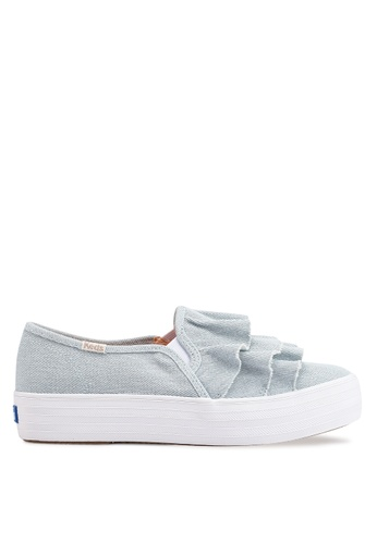 295a615dc6d4c Buy Keds Triple Ruffle Denim Slip Ons Online on ZALORA Singapore