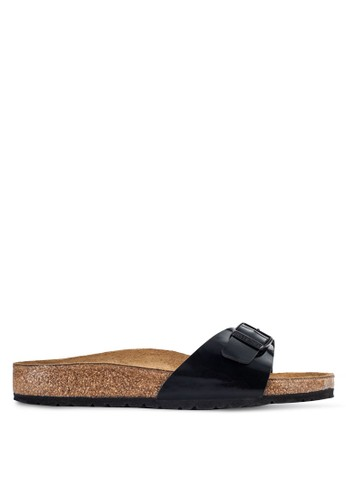 Birkenstock black Madrid Patent Sandals BI090SH64JQPMY_1