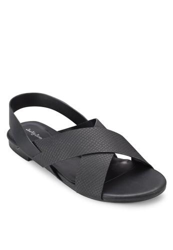 交叉寬帶繞踝涼鞋、 女鞋、 鞋SomethingBorrowed交叉寬帶繞踝涼鞋最新折價