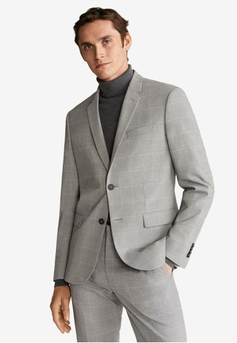 Mango Man grey Super Slim-Fit Tailored Blazer 7173CAA2932DA1GS_1