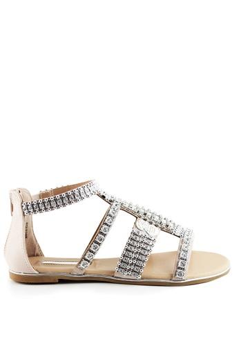 London Rag 銀色 London Rag女士罗马凉鞋 192EBSH444234FGS_1