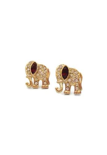 1901 Jewelry gold 1901 Jewelry Elephant swarovsky 19910AC07WXWID_1