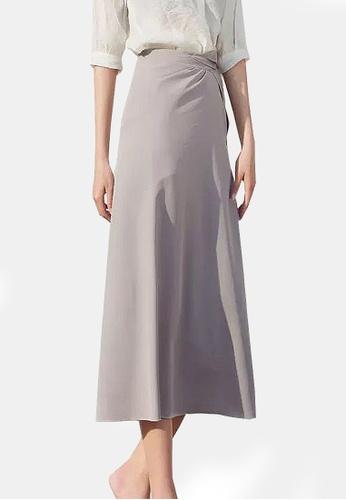 Twenty Eight Shoes grey VANSA Solid Color One-piece Skirt VCW-Sk8.P B2E88AA30C28FCGS_1