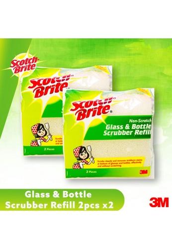 Scotch-Brite 3M Scotch Brite Glass & Bottle Scrubber Refill - 2pcs [Bundle of 2] 67455ES54FD5E4GS_1