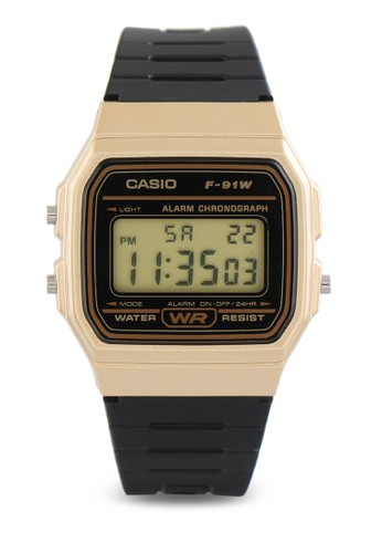 Casio black Casio Jam Tangan - Black Gold - Resin - F-91WM-9ADF 3206AAC9661EB0GS_1