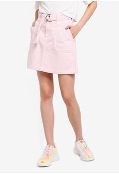 e4394e59ddc River Island pink Utility Denim Skirt 317ECAA03622BDGS 1