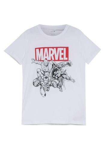 NAME IT white Marvel Bas Short Sleeves Top 7D7A7KA2D7FCECGS_1