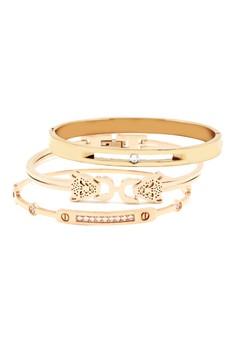 Rose Bracelet Bangle Set of 3