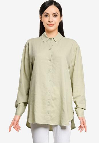Abercrombie & Fitch green Resort Shirt E9C2CAA9A6A602GS_1