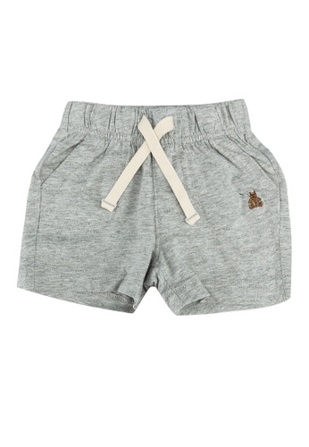 GAP grey Embroidery Detail Shorts E528BKAA057EE6GS_1