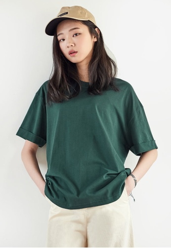 NAIN green Back Lettering Tee 607C8AA3044254GS_1