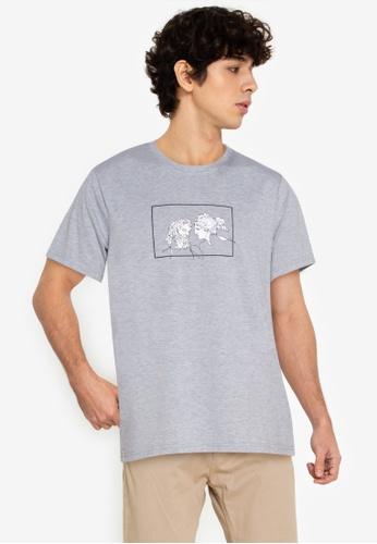 ZALORA BASICS grey Roman Potrait T-Shirt AC880AAEABFD7BGS_1
