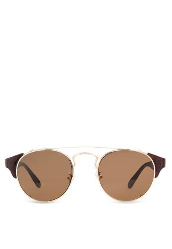 JPzalora 泳衣0274 復古圓框太陽眼鏡, 飾品配件, 飾品配件