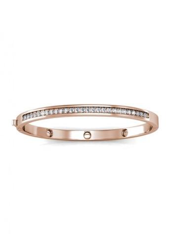 Her Jewellery gold Swarovski® Crystals - Classic Bangle (Rose Gold)(18K Rose Gold Plated) Her Jewellery HE581AC0RVFHMY_1
