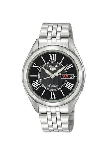 SEIKO silver Seiko Men's SNKL35K1 Seiko 5 Automatic Stainless Steel Band Sport Watch F6C77AC285A038GS_1