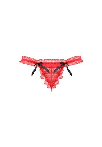 LAVABRA Intimates red Very Sexy Panty - Giselle Layered Lace Double Bow Thong LA387US77RFAID_1