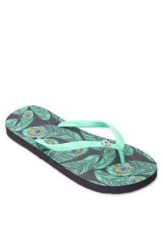 Peafowl Flip Flops