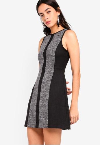 ZALORA black Contrast Panel Dress 4D9B0AAF02B5B3GS_1