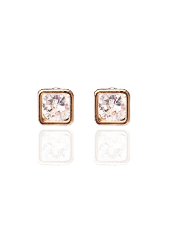 Memento Collection silver Simple Zircon Detailed Earrings ME060AC21EJYMY_1