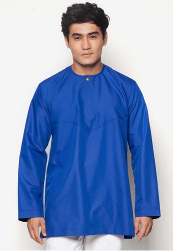 Amar Amran blue Kurta Al Amin AM362AA40JELMY_1