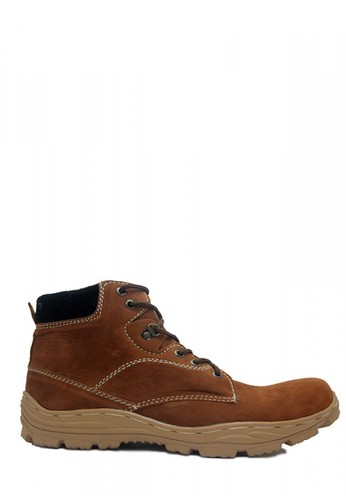 Cut Engineer brown Cut Engineer Safety Boots Mens Rocky Suede Brown 49522SHD97F847GS_1