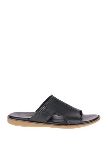 Hush Puppies black Gabe Howston Casual Sandals HU326SH0JZ46PH_1