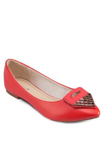幾何鉚釘平底鞋, esprit服飾女鞋, 鞋