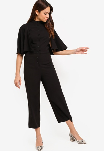 ZALORA black Flare Sleeves Jumpsuit 65EFAAA390A141GS_1