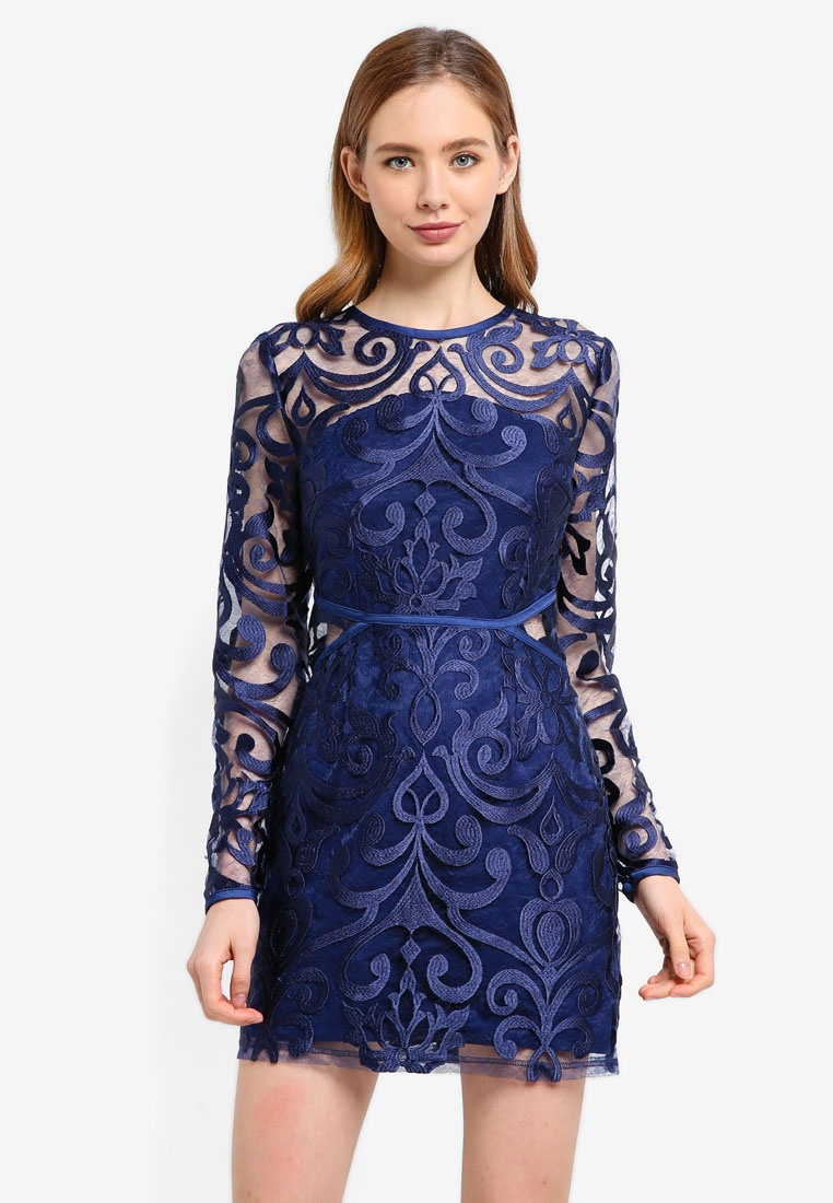 Sleeve Finders Alchemy Keepers Navy Dress Mini Long SxxO1q5R