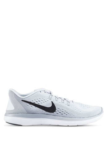 Nike grey and silver Men's Nike Flex 2017 RN Running Shoes NI126SH0RWELMY_1