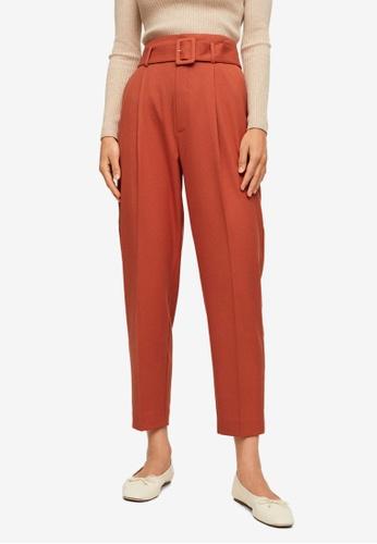 Mango orange Belt Straight-Fit Trousers 96034AA0C3A9D8GS_1