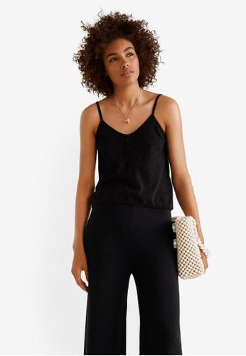 Mango black Fine Knit Top 9B563AAD732688GS_1