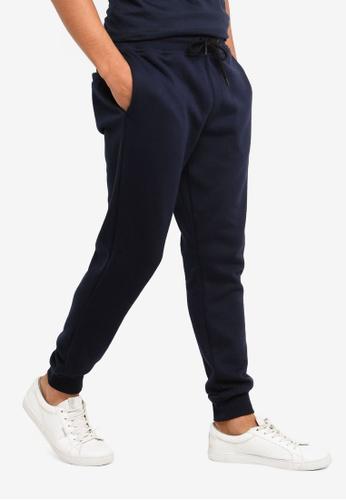 Burton Menswear London 海軍藍色 修身慢跑褲 43214AA1C04EE6GS_1